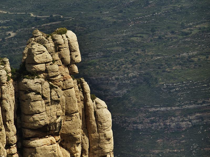 A vista de pájaro. Montserrat