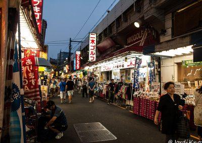 Calle comercial entre Ueno y Akihabara