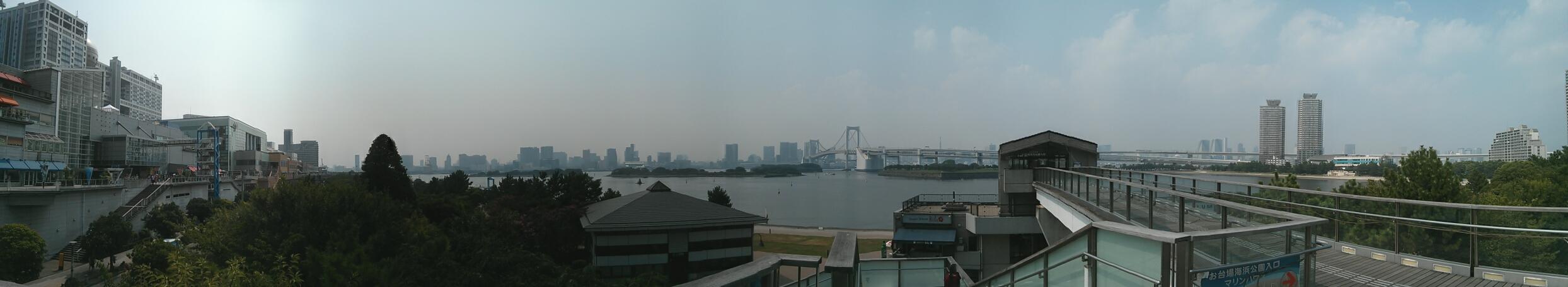 Panorámica de Odaiba desde el Decks