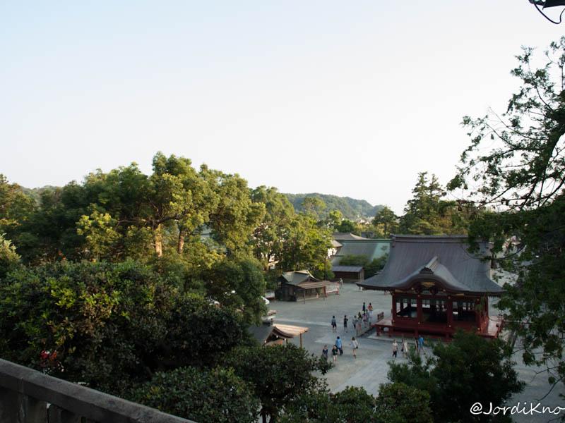 Vistas desde la puerta del Tsurugaoka