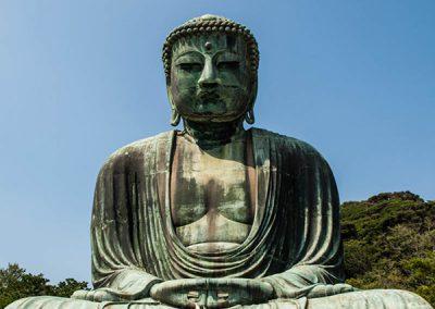 Posición de meditación del Daibutsu