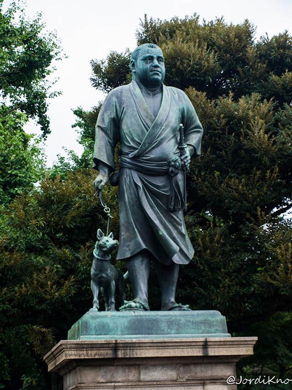 Estatua del Último Samurai en 2009