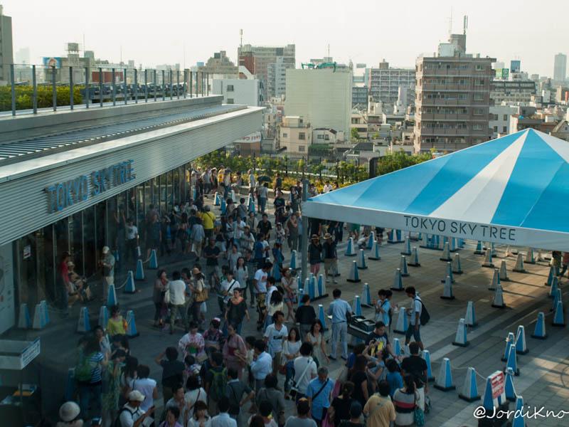 Puertas de entrada para subir al mirador de la Tokyo Skytree