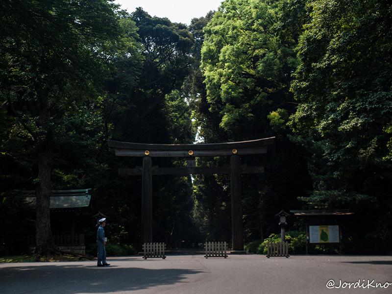Entrada al parque desde la estación de Yoyogi