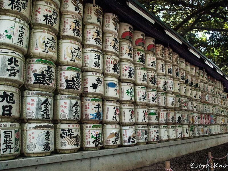Barriles de sake cercanos al Santuario Meiji