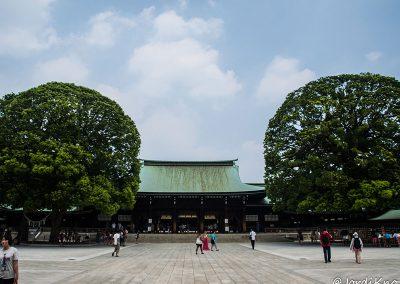 Patio exterior del Santuario Meiji