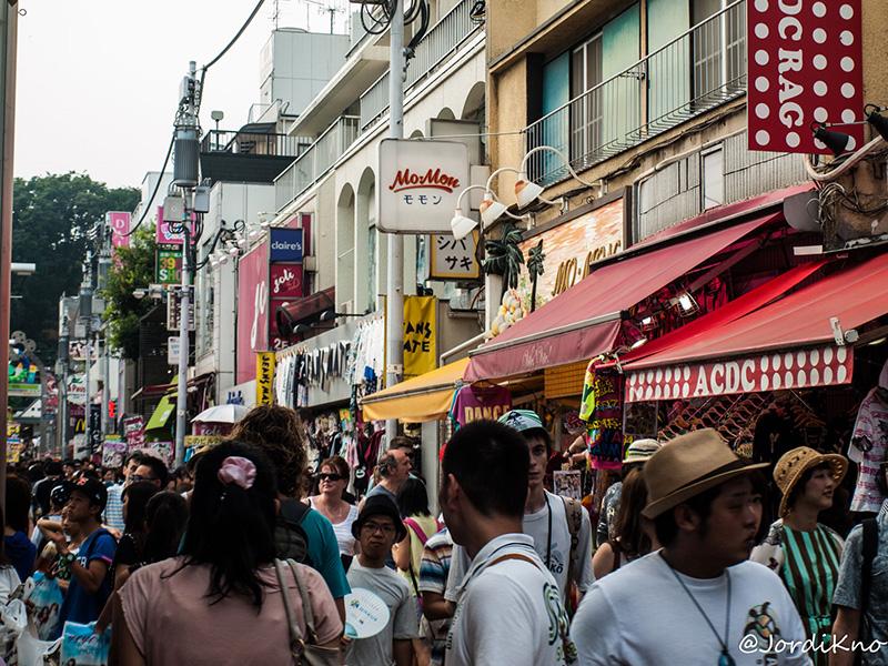 Tiendas en Takeshita Dori