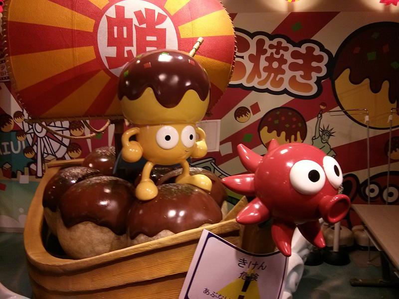 Mascotas del Museo del Takoyaki