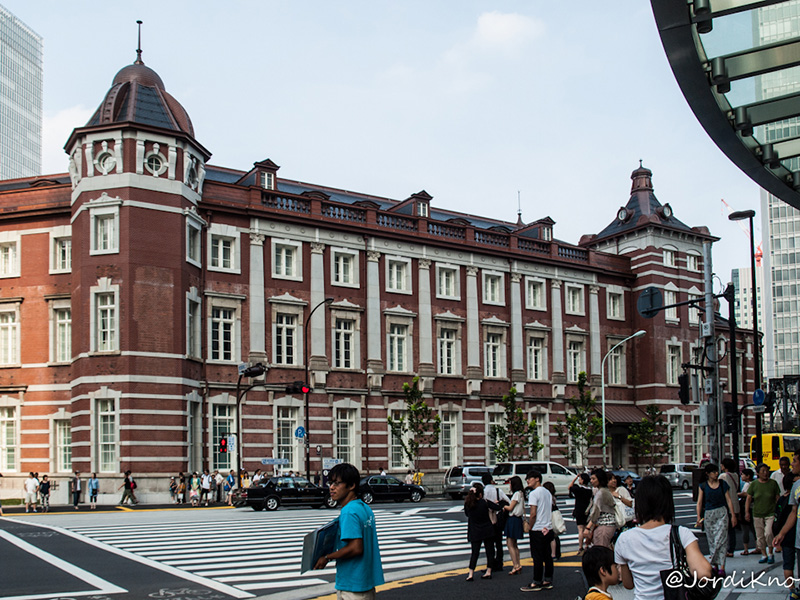 Fachada lateral, Tokyo Station