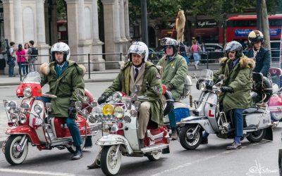 Lambretta en Trafalgar Square