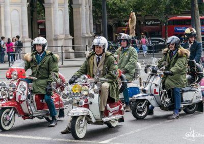 Lambrettas en Trafalgar Square