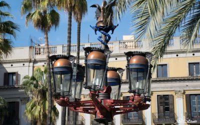 Farolas de la Plaça Reial de Barcelona