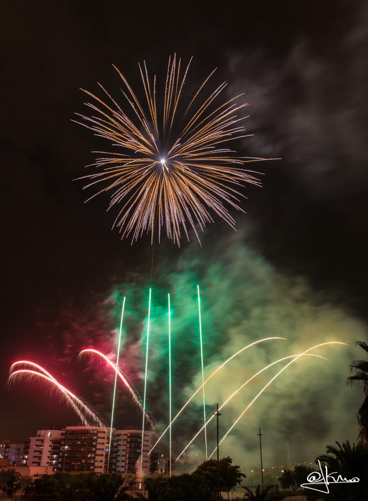 Fuegos artificiales Sant Joan Despí 2017